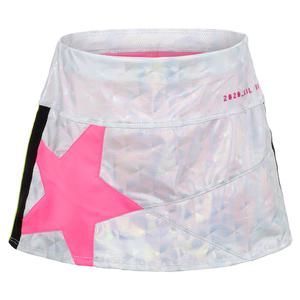 Girls` Mini Super Star Tennis Skort Iridescence and Pink