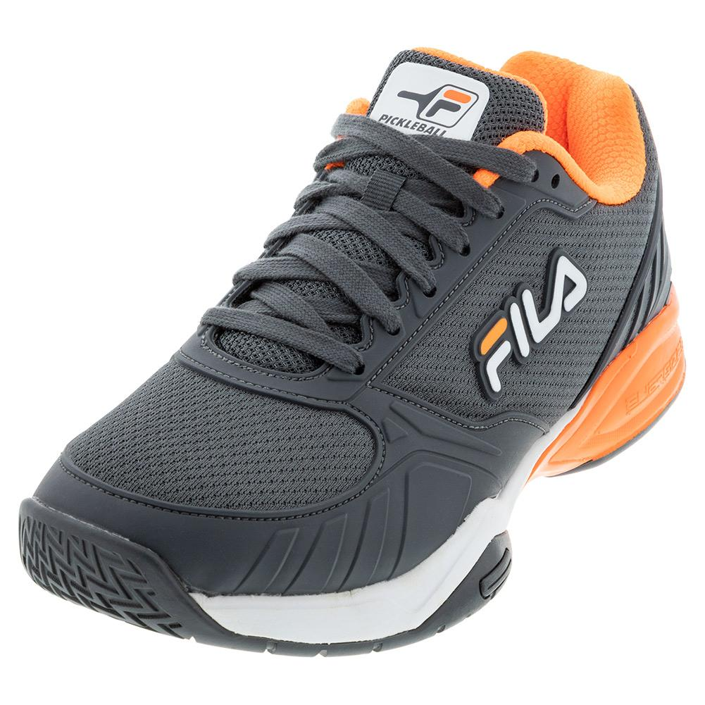 Men's Volley Zone Pickleball Shoes Dark Shadow And White
