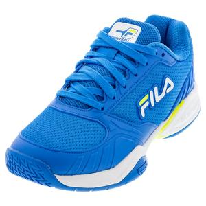 Men`s Volley Zone Pickleball Shoes Electric Blue and White