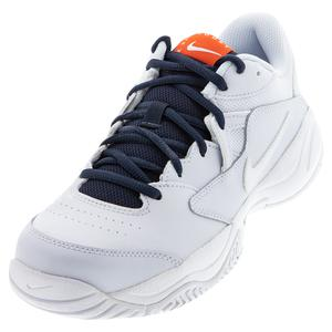 Men`s Court Lite 2 Tennis Shoes Football Grey and White