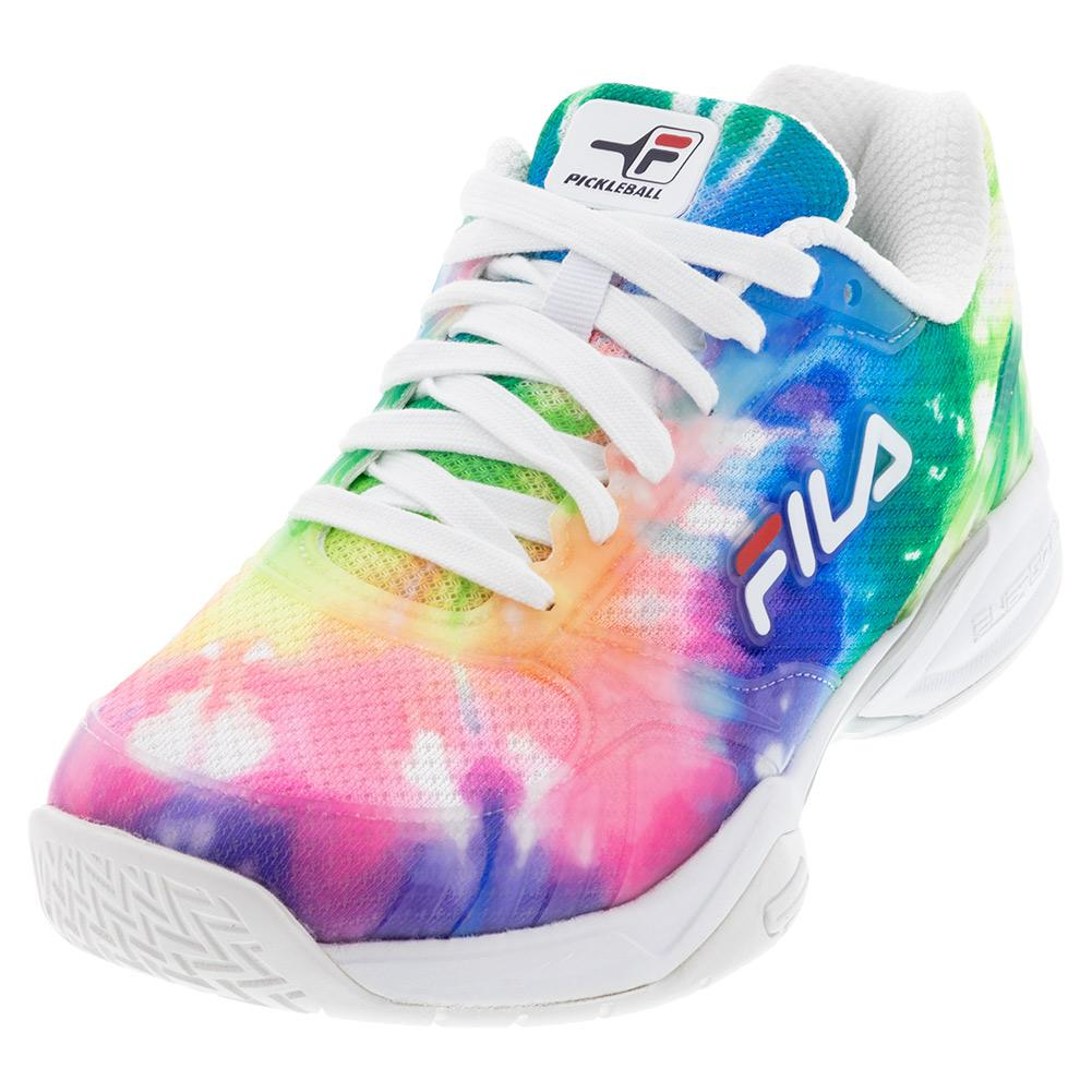 Women's Volley Zone Pickleball Shoes Tie Dye And White