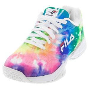 Women`s Volley Zone Pickleball Shoes Tie Dye and White
