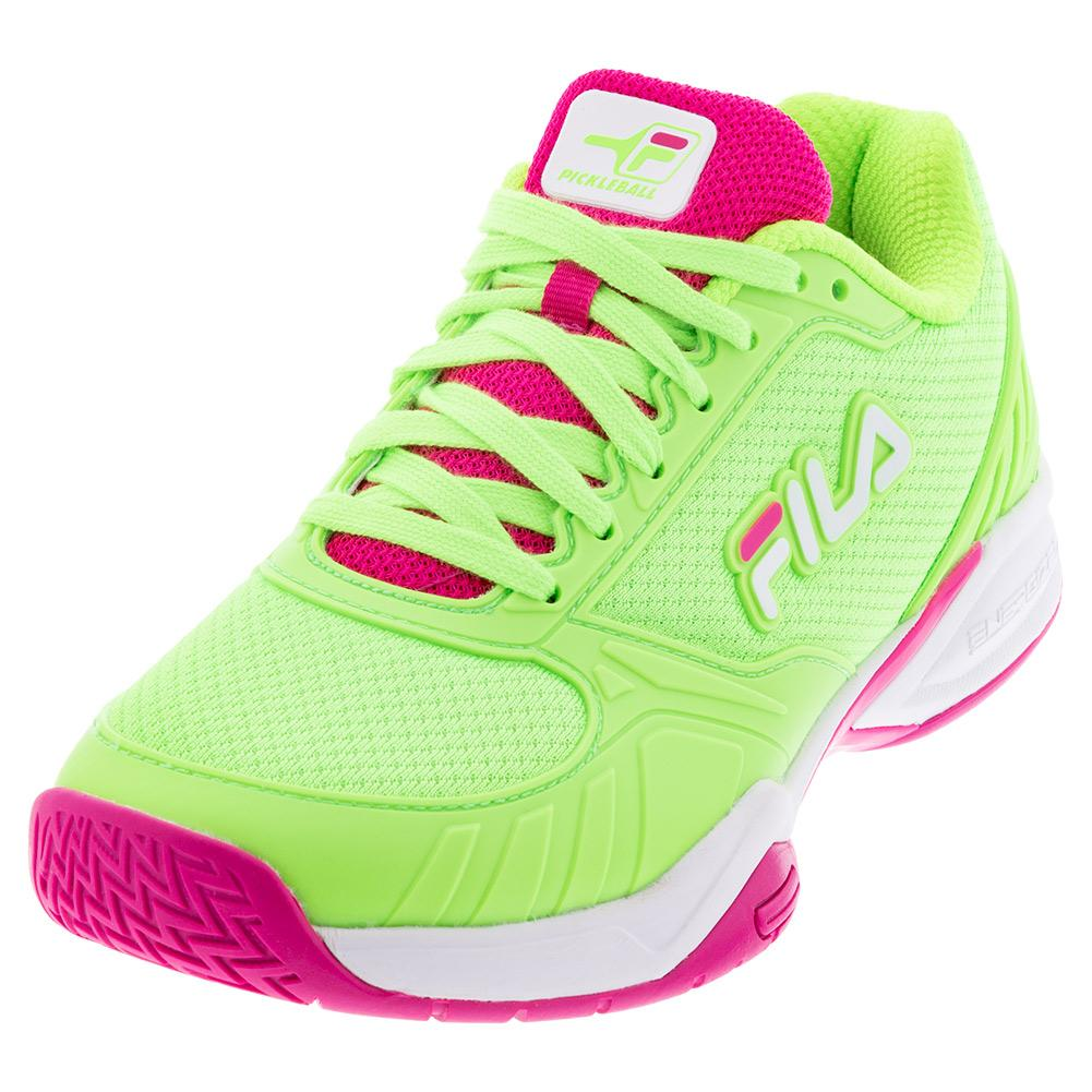 Women's Volley Zone Pickleball Shoes Green Gecko And White