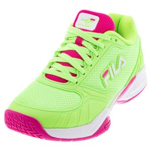 Women`s Volley Zone Pickleball Shoes Green Gecko and White