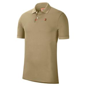 Men`s Slim Fit Tennis Polo Parachute Beige