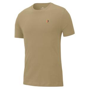 Men`s Court Heritage Emblem Tennis Top Parachute Beige