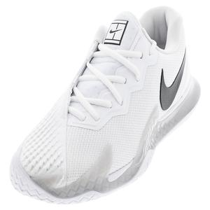 Men`s Court Air Zoom Vapor Cage 4 Tennis Shoes White and Black