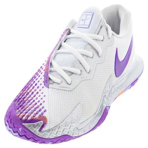 Women`s Court Air Zoom Vapor Cage 4 Tennis Shoes White and Wild Berry