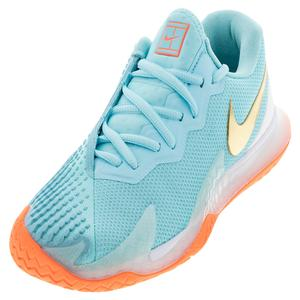 Women`s Court Air Zoom Vapor Cage 4 Tennis Shoes Copa and Metallic Gold