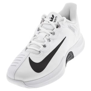 Men`s Court Air Zoom GP Turbo Tennis Shoes White and Black