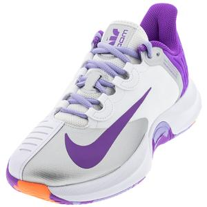Women`s Court Air Zoom GP Turbo Tennis Shoes White and Wild Berry