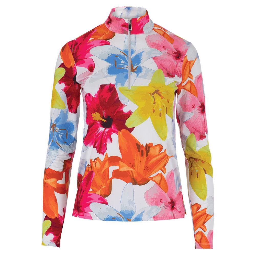 Women's Happy Long Sleeve Tennis Top Lily Hibiscus