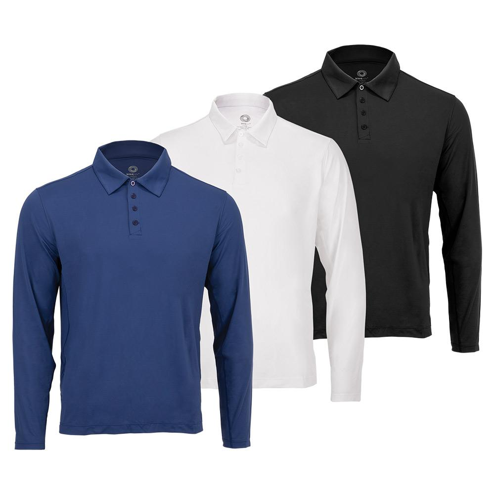 Tennisexpress Men`s Long Sleeve Tennis Polo