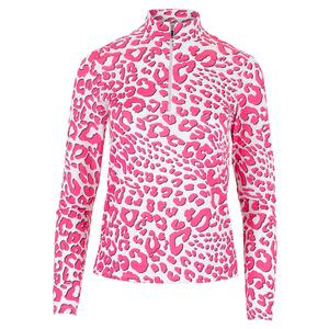 Women`s Happy Long Sleeve Tennis Top Leona Leopard