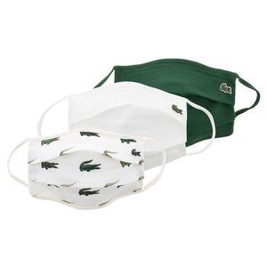 Men`s Tennis Face Masks (3 Pack) Green and Flour