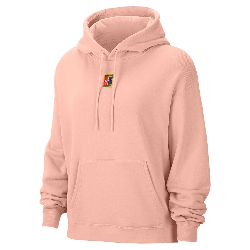Women's Court Fleece Tennis Hoodie Arctic Orange