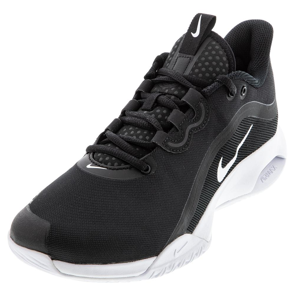 Men's Court Air Max Volley Tennis Shoes Black And White