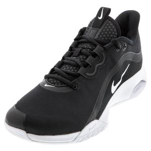 Men`s Court Air Max Volley Tennis Shoes Black and White