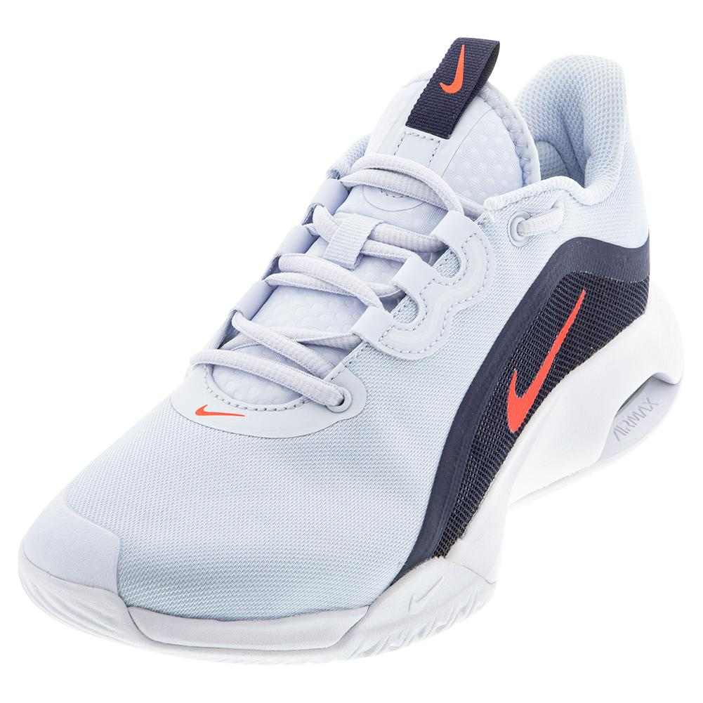 Women's Air Max Volley Tennis Shoes Football Grey And Bright Crimson