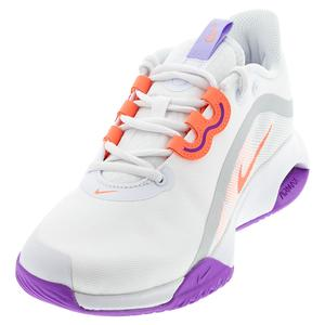 Women`s Court Air Max Volley Tennis Shoes White and Bright Mango