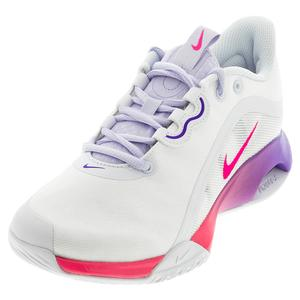 Women`s Court Air Max Volley Tennis Shoes White and Hyper Pink