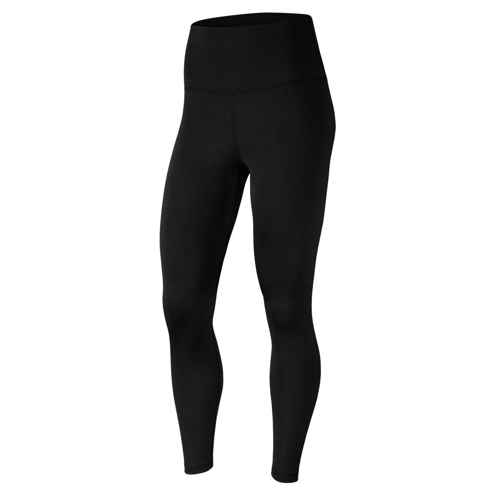 Women's 7/8 Yoga Tights Black And Dark Smoke Grey