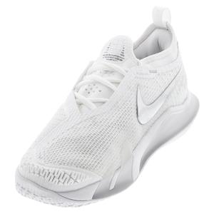 Women`s React Vapor NXT Tennis Shoes White and Metallic Silver