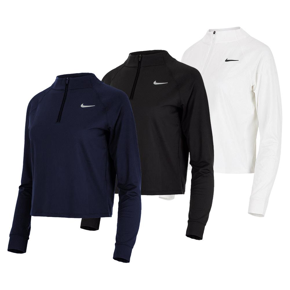 Women's Court Dri- Fit Victory Long- Sleeve 1/2- Zip Tennis Top