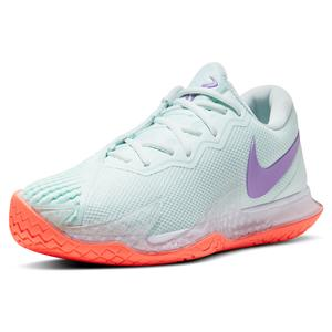 Men`s Rafa Court Zoom Vapor Cage 4 Tennis Shoes Barely Green and Wild Berry