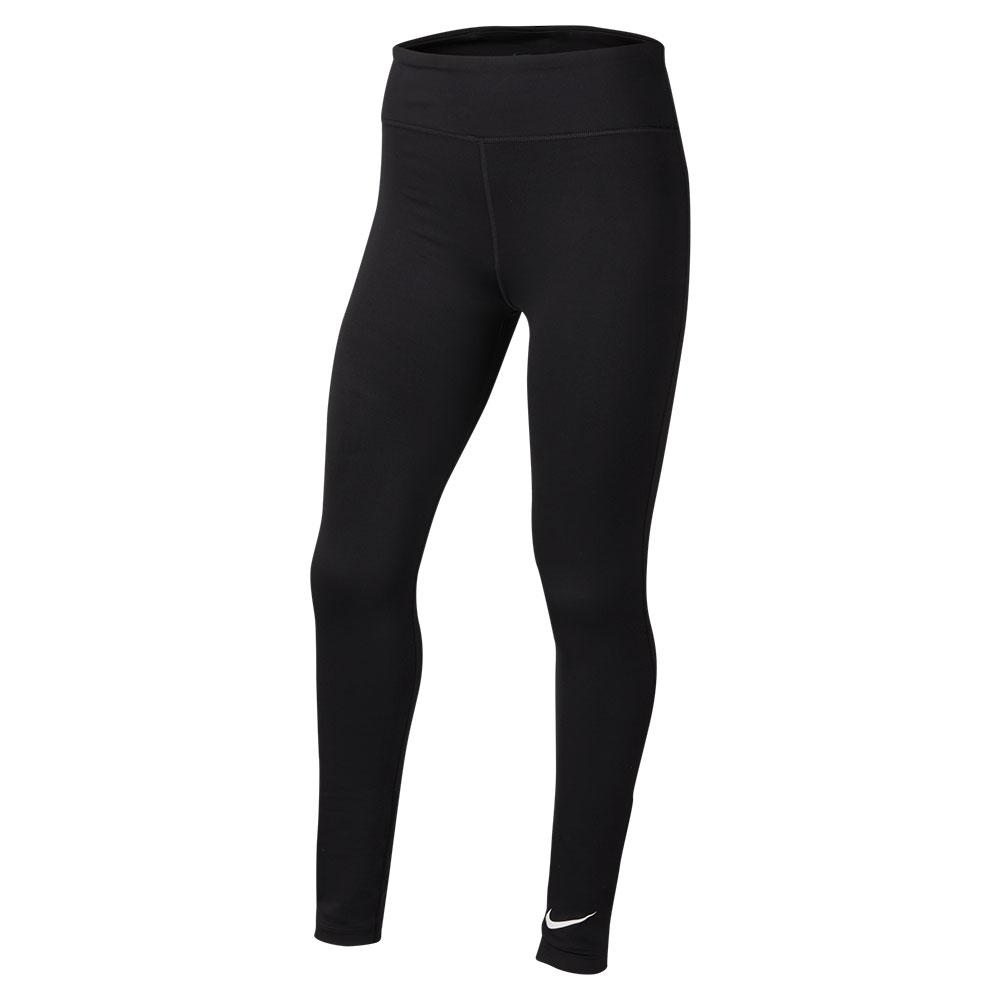 Girls ` One Training Tights Black And White