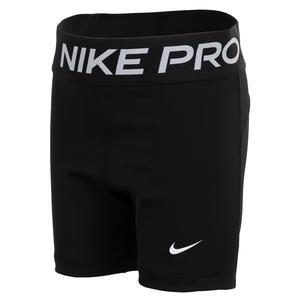 Girls` Pro Training Shorts Black and White