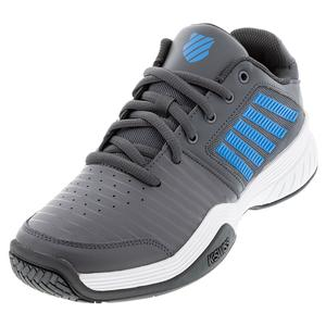 Men`s Court Express Tennis Shoes Dark Shadow and White