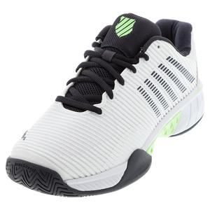 Men`s Hypercourt Express 2 Tennis Shoes White and Blue Graphite