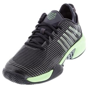 Men`s Hypercourt Supreme Tennis Shoes Blue Graphite and Soft Neon Green