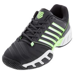 Men`s Bigshot Light 4 Tennis Shoes Blue Graphite and Soft Neon Green