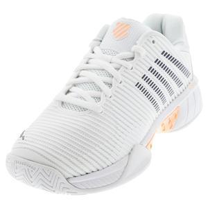 Women`s Hypercourt Express 2 Tennis Shoes White and Peach Nectar