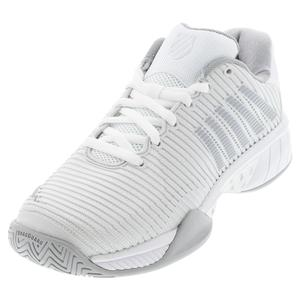 Women`s Hypercourt Express 2 Tennis Shoes Barely Blue and White