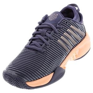 Women`s Hypercourt Supreme Tennis Shoes Graystone and Peach Nectar