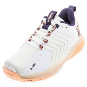 Women`s Ultrashot 3 Tennis Shoes White and Peach Nectar