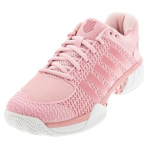 Women`s Express Light Pickleball Shoes Coral Blush and White