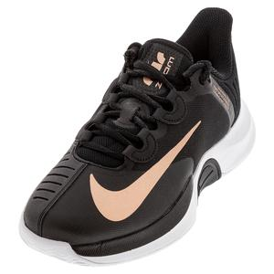 Women`s Court Air Zoom GP Turbo Black and Metallic Red Bronze