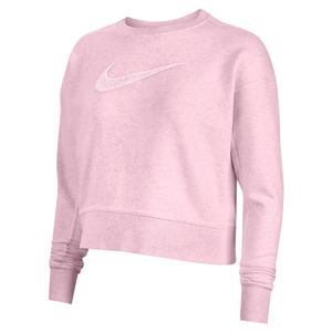Women`s Dri-FIT Get Fit Training Sweatshirt Pink Foam