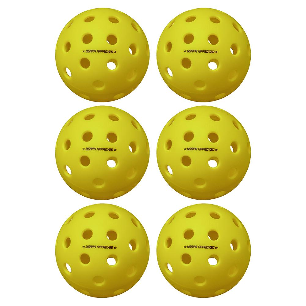 Pure 2 Outdoor Pickleballs Yellow 6- Pack