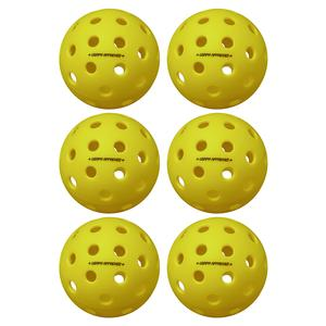 Pure 2 Outdoor Pickleballs Yellow 6-Pack