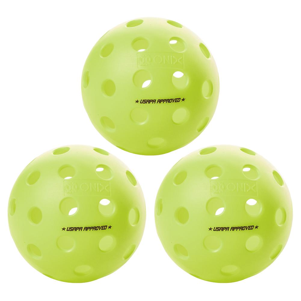 Fuse G2 Outdoor Pickleballs Neon 3- Pack