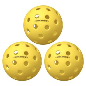 Fuse G2 Outdoor Pickleballs Yellow 3-Pack