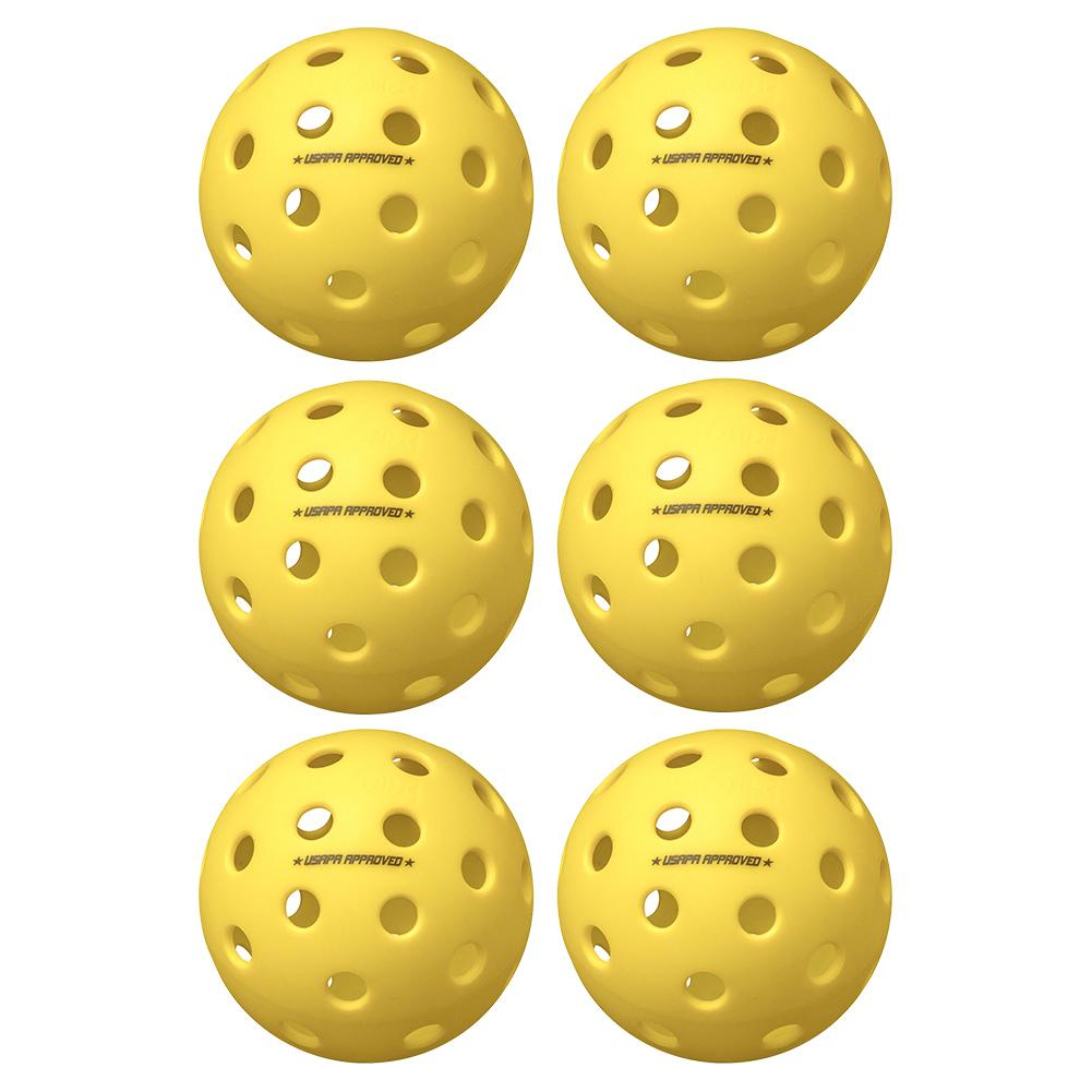 Fuse G2 Outdoor Pickleballs Yellow 6- Pack