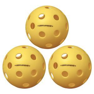 Fuse Indoor Pickleballs Yellow 3-Pack