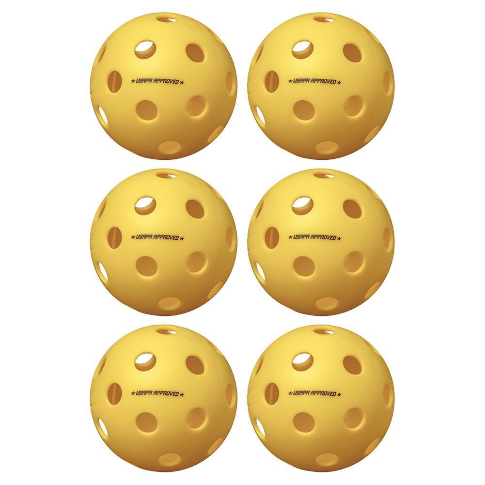 Fuse Indoor Pickleballs Yellow 6- Pack