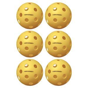 Fuse Indoor Pickleballs Yellow 6-Pack